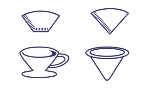 円錐型と台形型のドリッパーの違い